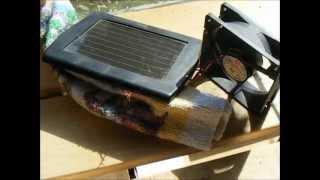 Solar Fan for Greenhouse