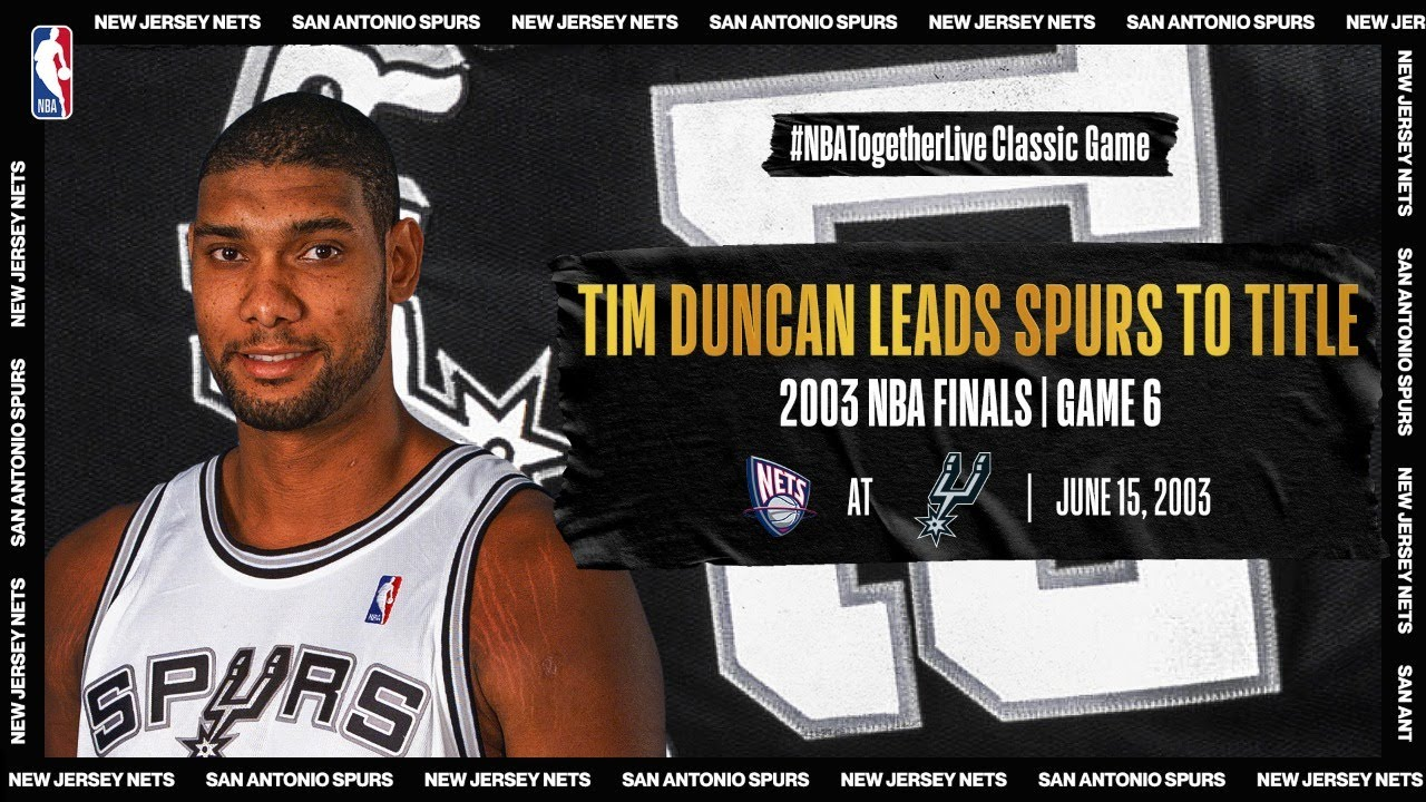 Tim Duncan's monster evening (21p/20r/10a/8b) in GM 6 of 03' Finals | Nets @ Spurs | #NBATogetherLive - NBA thumbnail