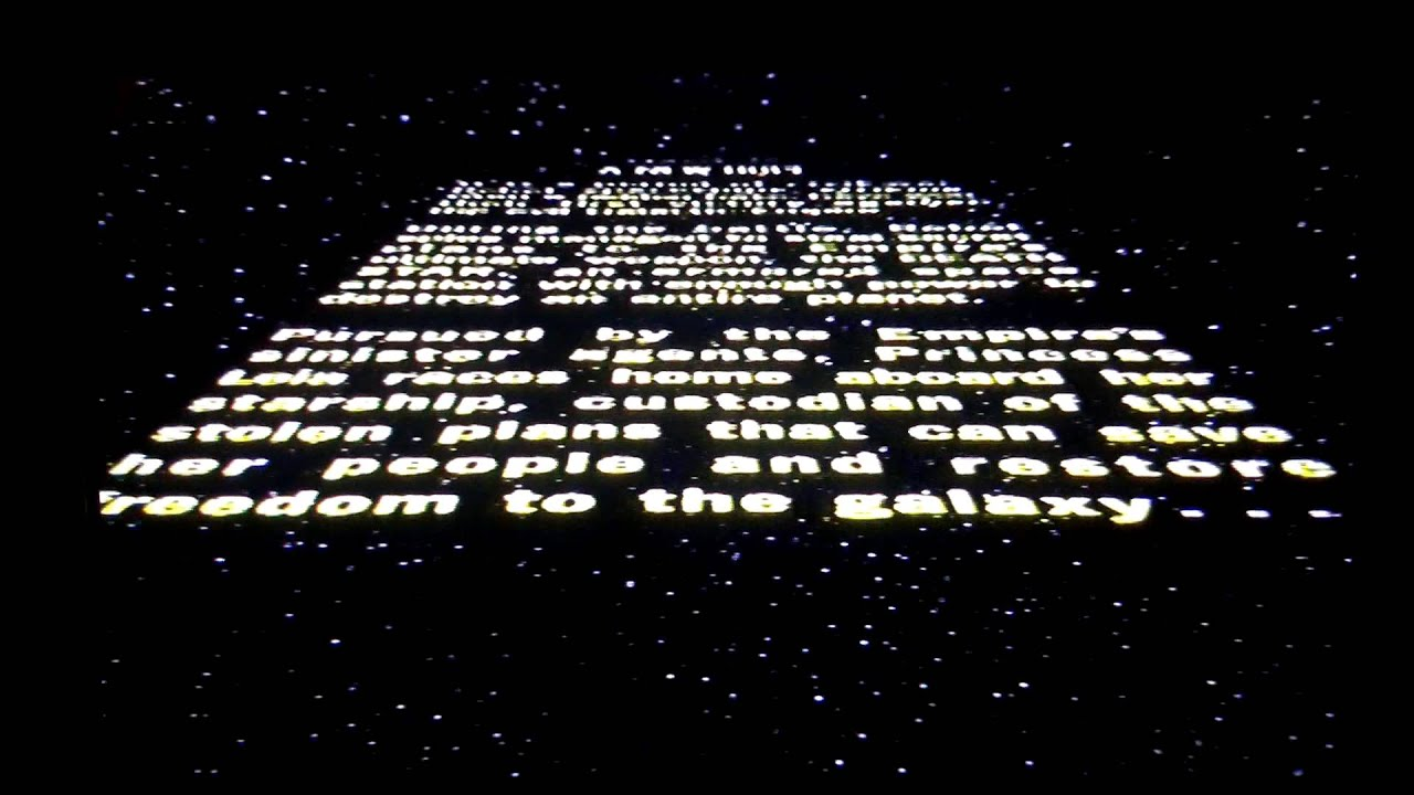 Star Wars Episode Iv A New Hope Opening Credits Vhs Youtube