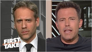 Ben Affleck confronts Max Kellerman about his Tom Brady cliff theory | First Take