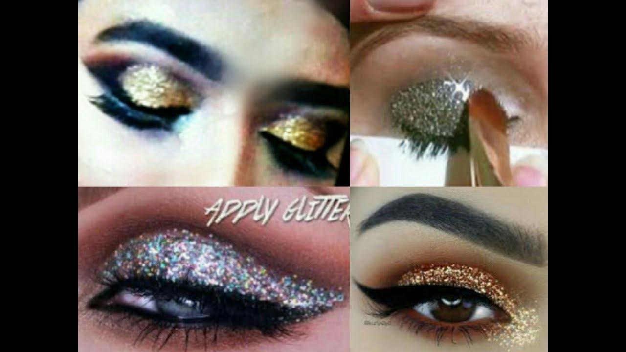 How To Applyfixset Glitters Loose Glitterdusty Glitter On Eye Tutorial