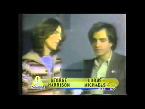 George Harrison at 1976 SNL backstage