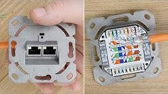 Netzwerkdose anschließen bzw. verkabeln, auflegen & patchen // CAT 7 Kabel an CAT 6a Dose!