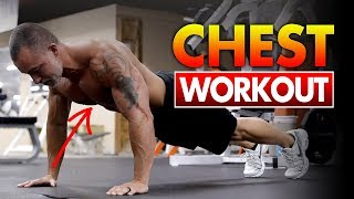 FAST Chest Workout For Men At Home!