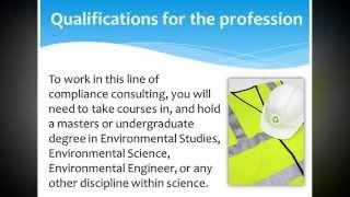 The Job Description of an Environmental Consultant