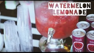Watermelon Infused Lemonade