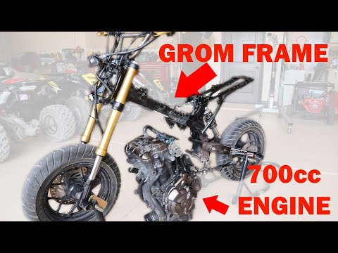 Honda Grom Complete Tear down and Engine Removal