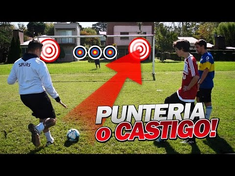 PUNTERÍA O CASTIGO! RETO DE FUTBOL CON LOS DISPLICENTES