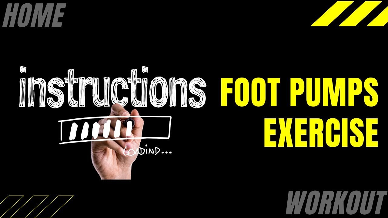 Foot Pumps Seated Exercise Will Improve Circulation - Guaranteed!
