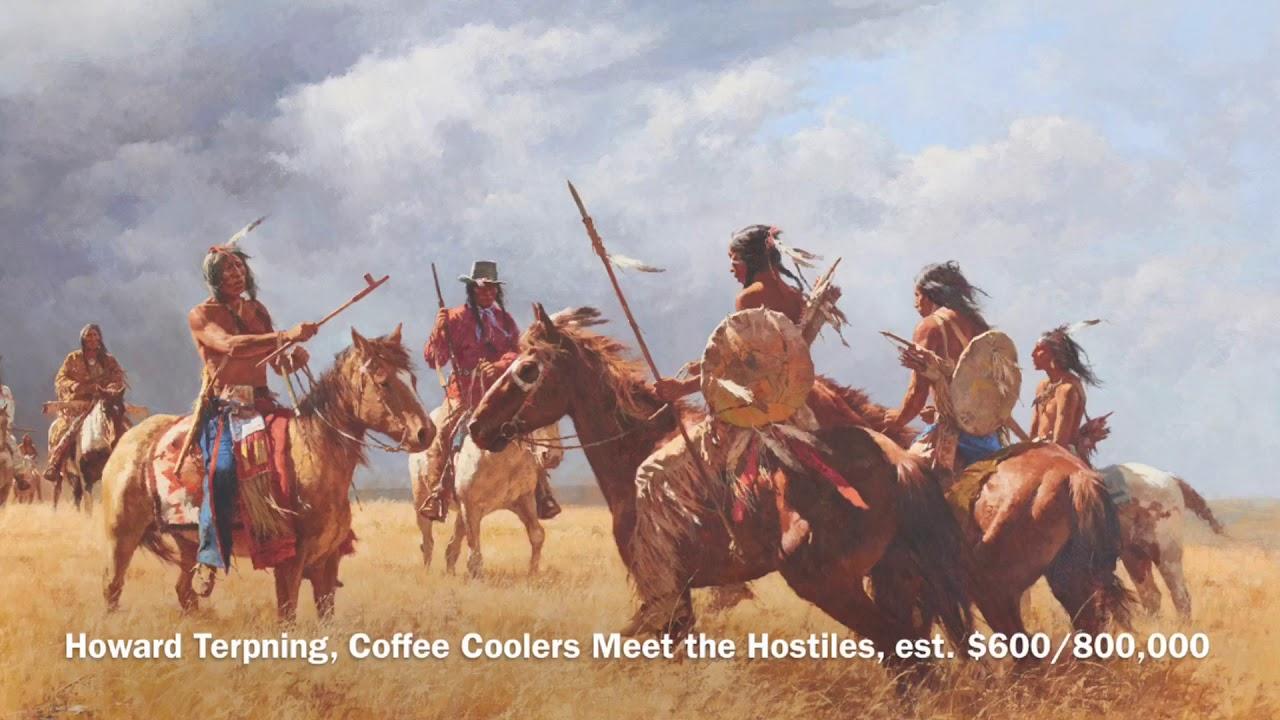 E. Martin Hennings and Howard Terpning paintings sell at Bonhams in Los Angeles