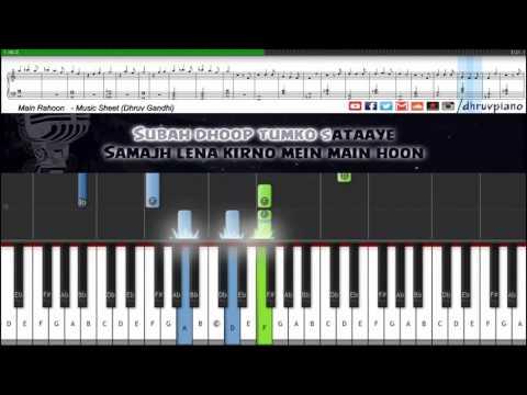 ♫ Main Rahoon Ya Na Rahoon || Easy to Advanced Piano Tutorial + Music Sheet + MIDI with Lyrics