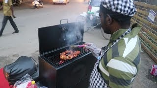 Indian Street Food Tour of Salem, India | Street Food in india | BEST grilled chicken at 4 PM