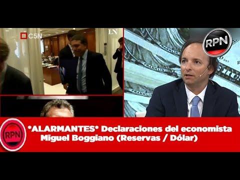 *ALARMANTES* Declaraciones del economista Miguel Boggiano (Reservas / Dólar)