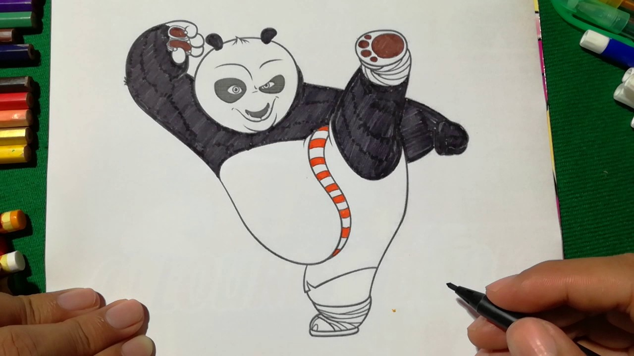 - Po Coloring Page Kung Fu Panda Coloring Book For Kids Learning