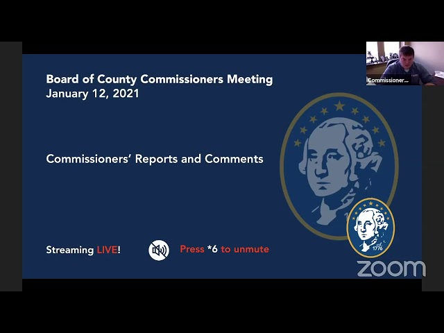 Washington County Board of Commissioner's Meeting 1/12/2021