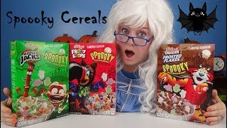 Spooky Cereals Apple Jacks Froot Loops Chocolate Frosted Flakes Spoooky Marshmallows