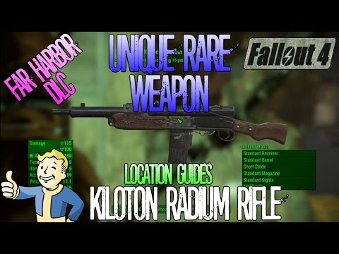 Fallout 4 | Kiloton Radium Rifle | Unique Rare Weapon | Location Guide | Far Harbor DLC