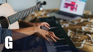 G Major Backing Track Acoustic Sorrow Piano
