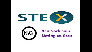 New york Coin listing on Stex Exchange - New york coin Cryptocurrency