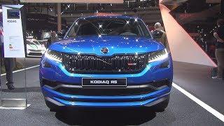 Škoda Kodiaq RS 2.0 TDI 240 hp DSG7 4x4 Race Blue (2019) Exterior and Interior