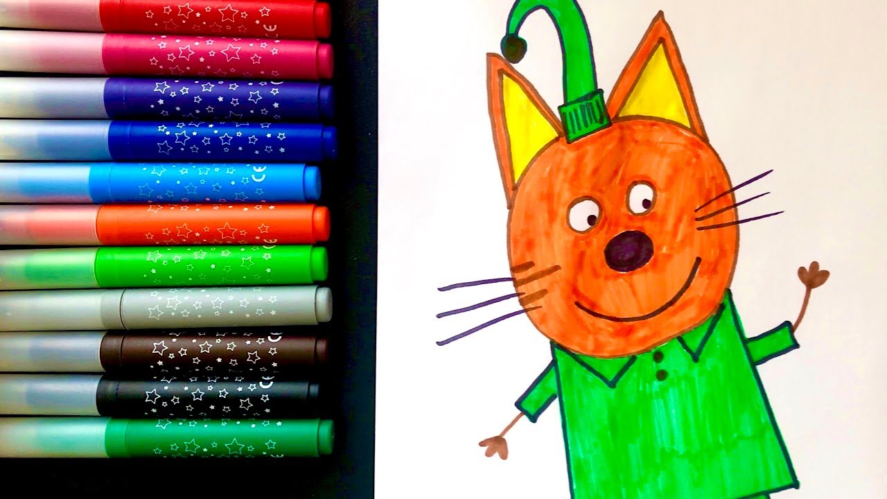 Рисунок Компот из мультика Три Кота Раскраска Три Кота ...