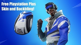 New Free Playstation Plus Skin for Fortnite Battle Royale! Blue Striker Skin & Blue Shift Backbling!