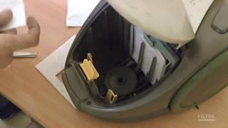 Замена пылесборника и фильтра в бытовом пылесосе