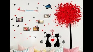 Самоклеющаяся наклейка на стену Влюбленные коты