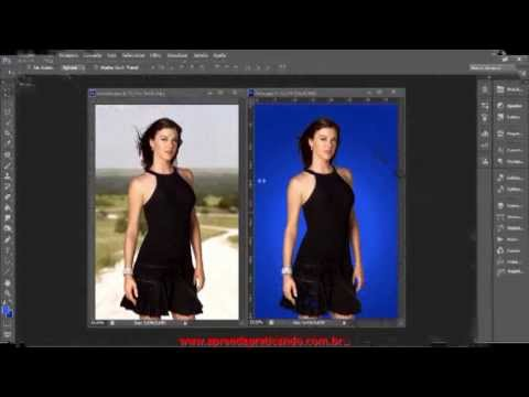 VÍDEO AULA 01 - Como Colorir Uma Camada No Photoshop CS 6 E Mudar O Fundo Da Imagem.