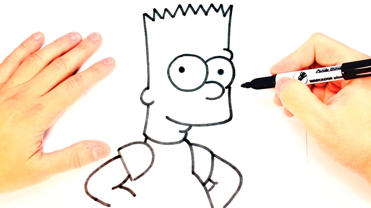 Como Dibujar A Bart Simpson Paso A Paso Dibujo Facil Bart
