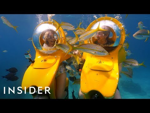 Riding In Personal Submarines + Swimming With Stingrays | Travel Dares Ep 8
