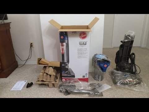 Hoover WindTunnel 2 vacuum unboxing and assembly