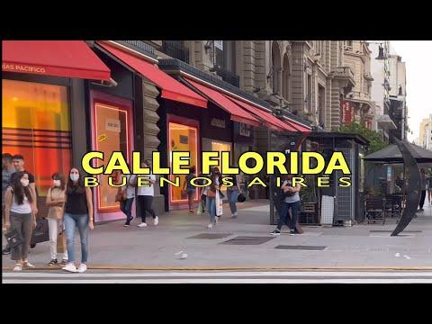 [4K] Buenos Aires Sunset Walk - Calle Florida / Barrio San Nicolás - Buenos Aires - Argentina