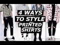 HOW TO STYLE PRINTED SHIRTS | Fashion Blogger, Advice, Affordable | ASOS, Hi Fi FNK | Gallucks