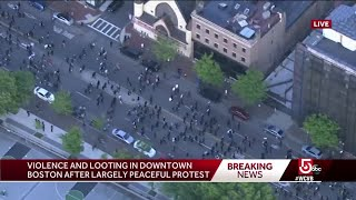 Boston protest was peaceful for hours before violence