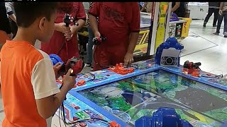 SEGA Arcade: Kid playing arcade game ACE ANGLER at Aeon Piazza Shah Alam