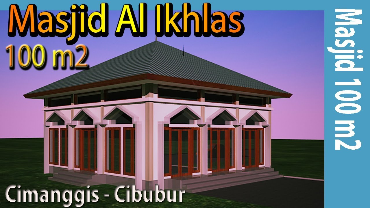 Desain Masjid Minimalis Luas 100 M2 Di Cimanggis Depok Youtube