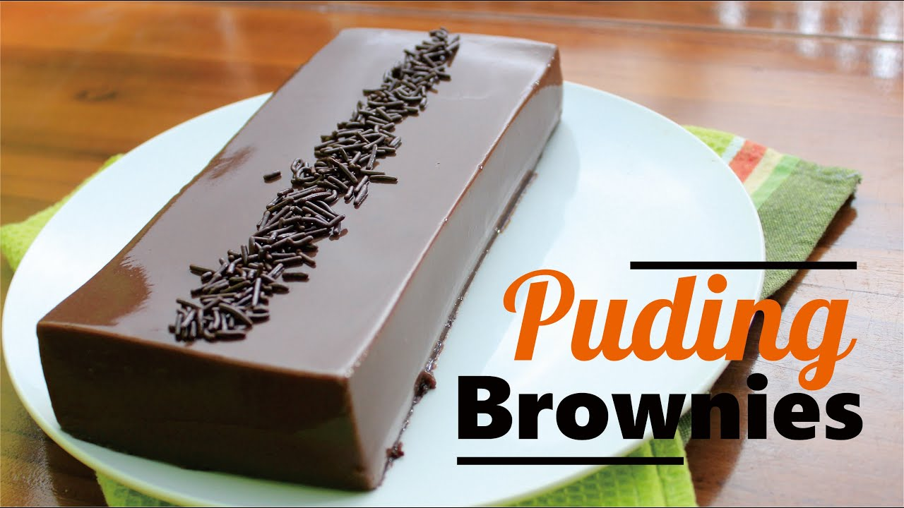 Puding Brownies Roti Tawar Super Lembut Youtube