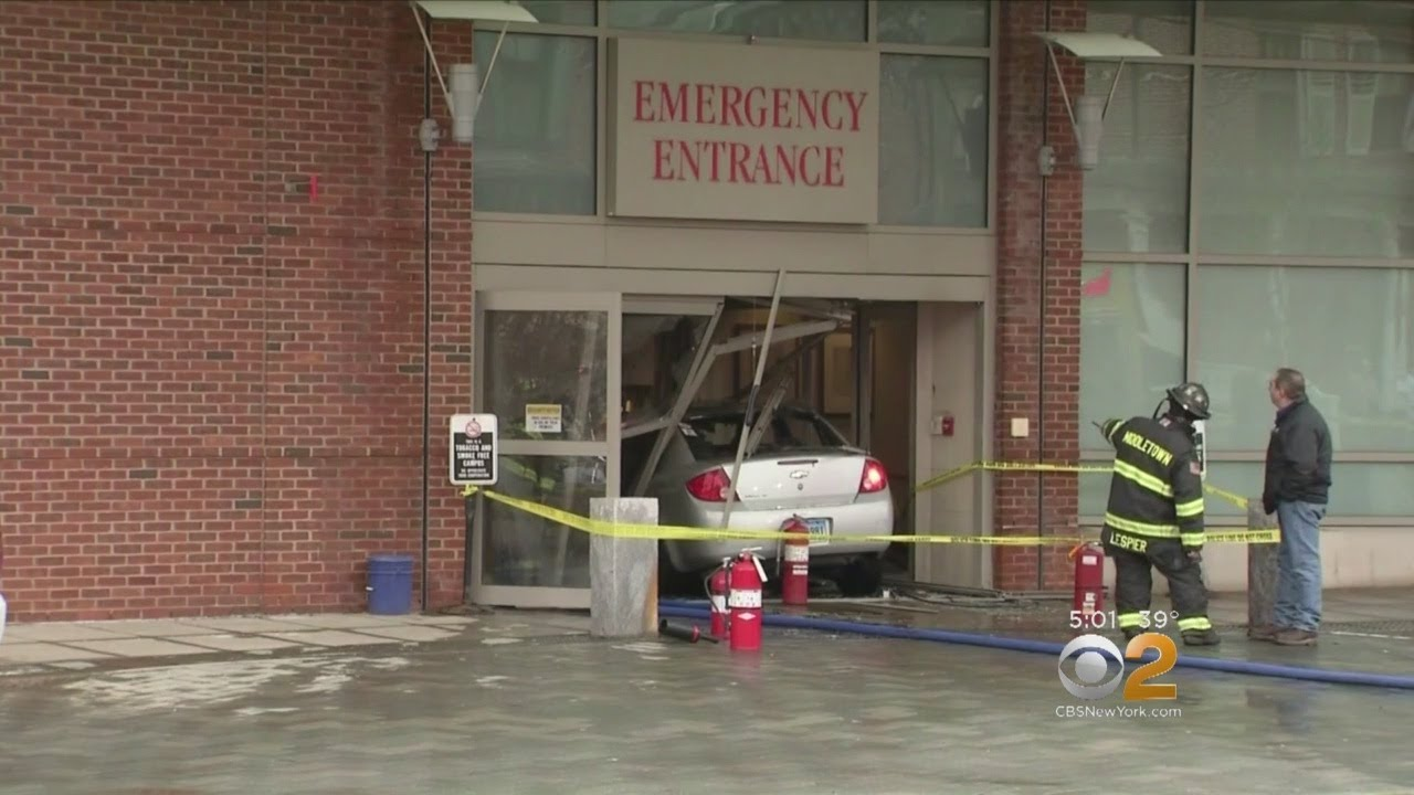 Car Crashes Into Hospital In Connecticut