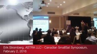 Erik Stromberg of ASTRA LLC at the Canadian SmallSat Symposium