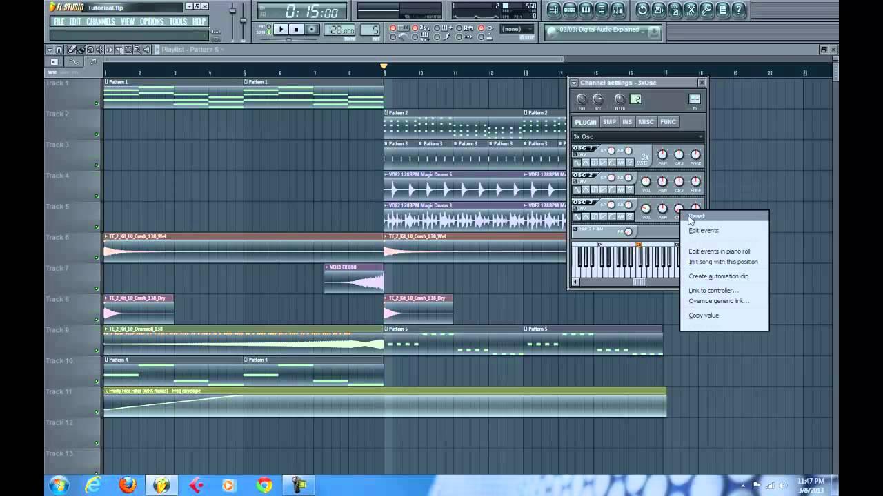como hacer musica electronica Fl studio 11 avicii- Davi
