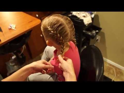 How To French Braid // Bangs mixed in // Cute Braids for girls