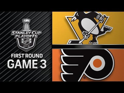 Pittsburgh Penguins vs Philadelphia Flyers – Apr. 15, 2018 | Game 3 | Stanley Cup 2018. Обзор