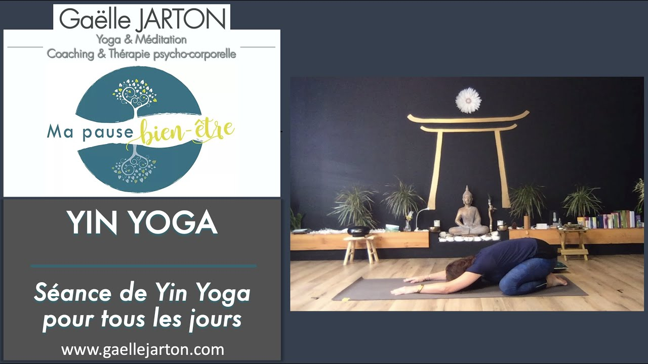 """Nouvelle vidéo spéciale """"Routine Yin Yoga pour tous les jours"""",dispo sur ma chaine YouTube."""