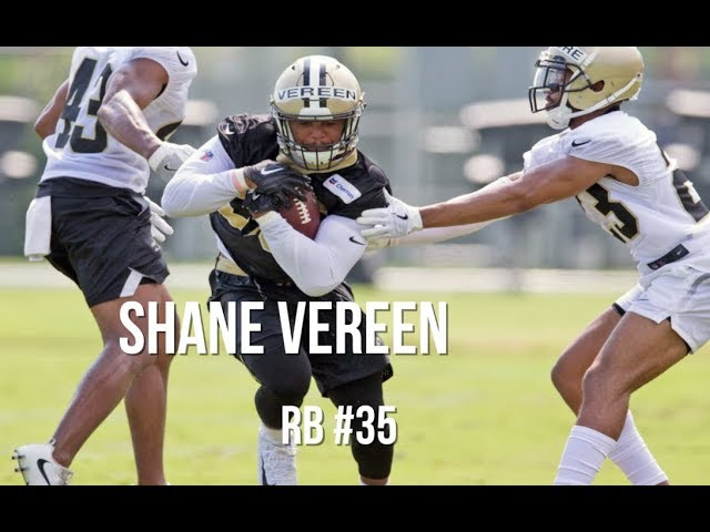 Shane Vereen raw footage from Saints training camp
