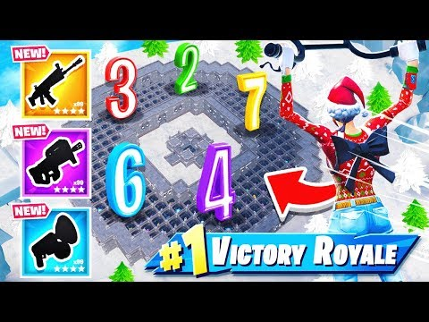 Random Number MAZE LOOT CHALLENGE *NEW* Minigame in Fortnite Battle Royale