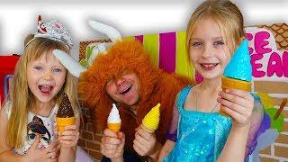 НастяПлей и Марго делают вкусное мороженое принцесса выбирает