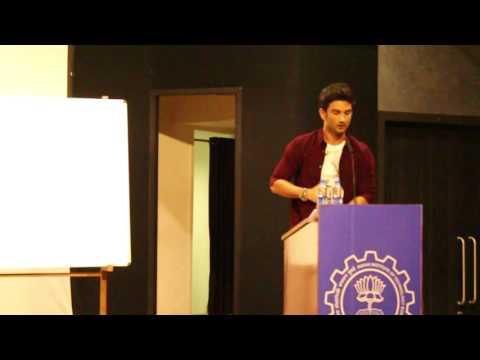 Sushant Singh Rajput at AVENUES 2016 , SJMSOM IIT MUMBAI