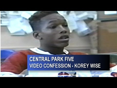 CENTRAL FIVE PARK - KOREY WISE FULL VIDEO CONFESSION
