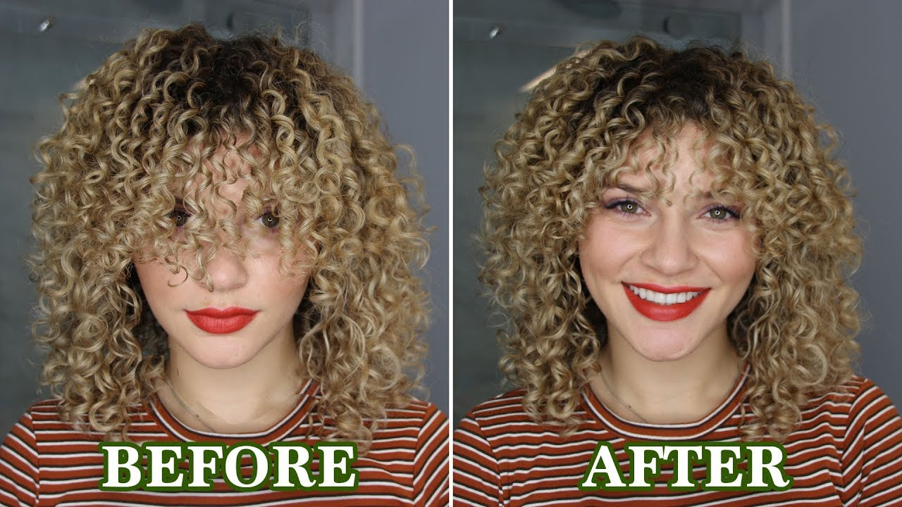 HOW TO CUT BANGS ON CURLY WAVY HAIR